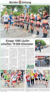 1.000 Läufer schaffen 19.000km